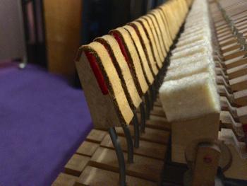 グランドピアノのバックチェック