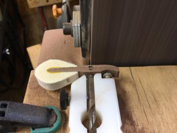 ハンマーのテール加工