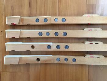 調整後の鍵盤鉛の配置